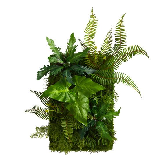 24 x 16 Mixed Foliage Artificial Living Wall - SKU #P1514