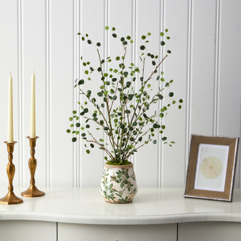 24 Night Willow Artificial Plant in Floral Planter - SKU #P1524
