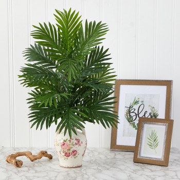 27 Areca Palm Artificial Plant in Floral Jar - SKU #P1530