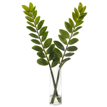 25 Zamioculcas Artificial Plant in Glass Planter - SKU #P1532