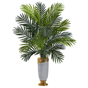 34 Areca Palm Artificial Plant in Designer Planter - SKU #P1535