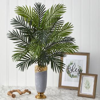 34 Areca Palm Artificial Plant in Designer Planter - SKU #P1535