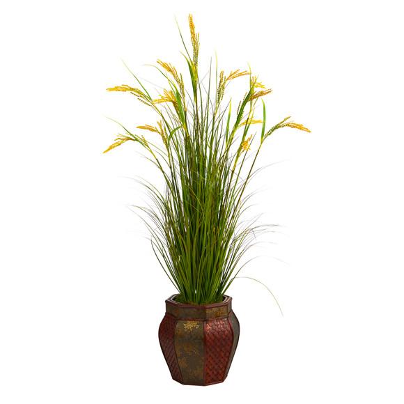 53 Wheat Grain Artificial Plant in Decorative Planter - SKU #P1561