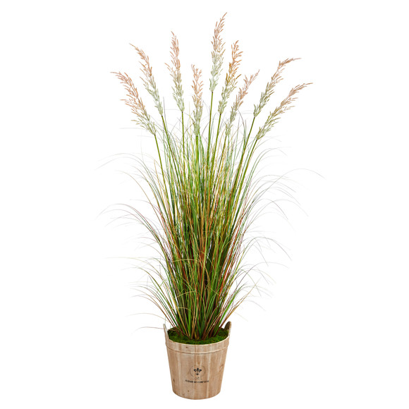 6 Grass Artificial Plant in Farmhouse Planter - SKU #P1563