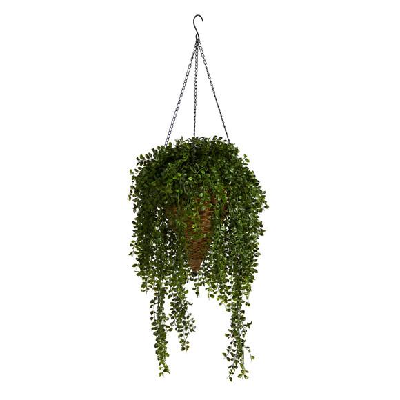 45 Gleditsia Artificial Plant in Hanging Cone Basket UV Resistant Indoor/Outdoor - SKU #P1605