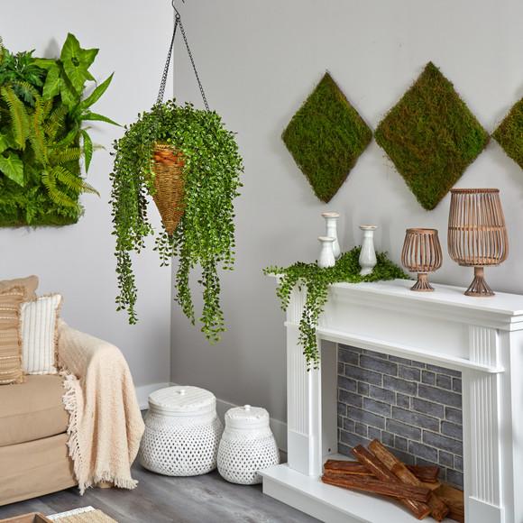 45 Gleditsia Artificial Plant in Hanging Cone Basket UV Resistant Indoor/Outdoor - SKU #P1605 - 3