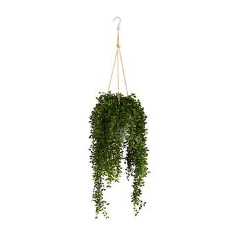 4 Gleditsia Artificial Plant in Hanging Metal Bucket UV Resistant Indoor/Outdoor - SKU #P1606
