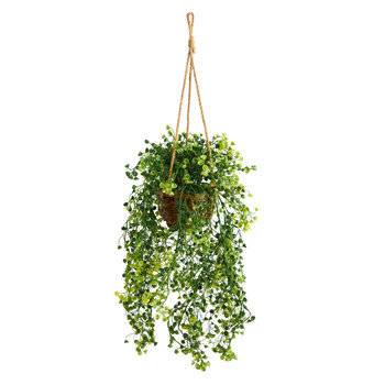 20 Baby Tear Artificial Plant in Hanging Basket - SKU #P1657