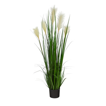 4 Plum Grass Artificial Plant - SKU #P1678
