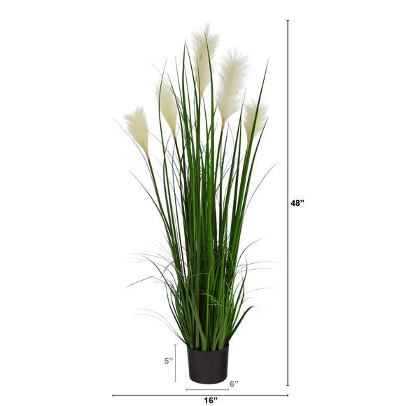 4 Plum Grass Artificial Plant - SKU #P1678 - 1