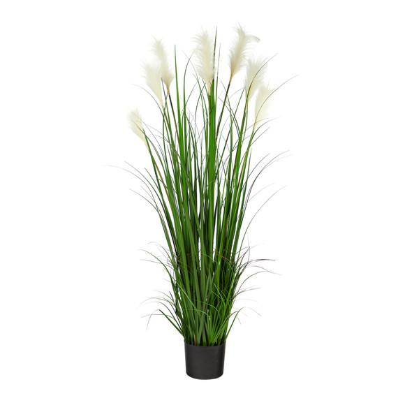4.5 Plum Grass Artificial Plant - SKU #P1679