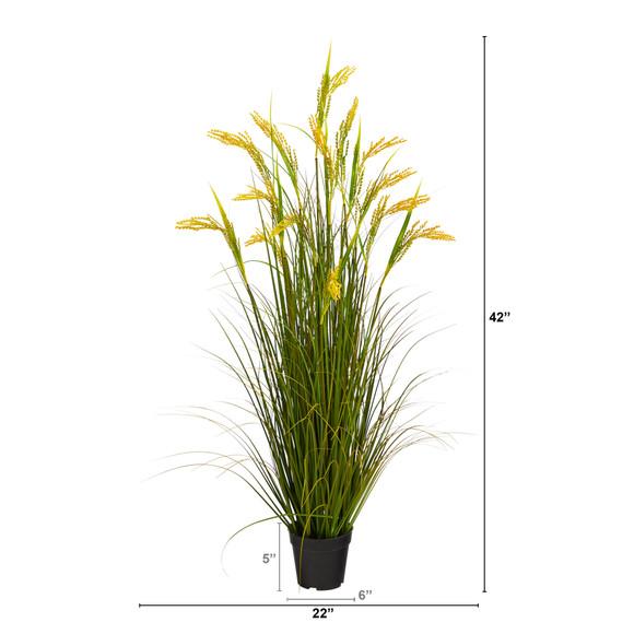 3.5 Wheat Grain Artificial Plant - SKU #P1681 - 1