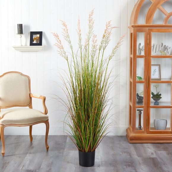 5.5 Plum Grass Artificial Plant - SKU #P1682 - 2