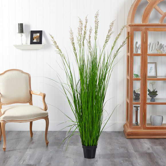 5.5 Plum Grass Artificial Plant - SKU #P1684 - 2