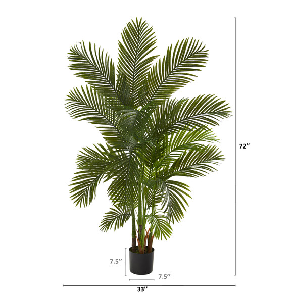 6 Areca Palm Artificial Tree - SKU #T1005 - 1