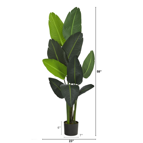 58 Travelers Palm Artificial tree - SKU #T1007 - 1