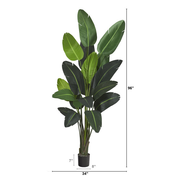 8 Travelers Palm Artificial tree - SKU #T1009 - 1