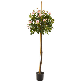 4 Rose Topiary Artificial Tree - SKU #T1018