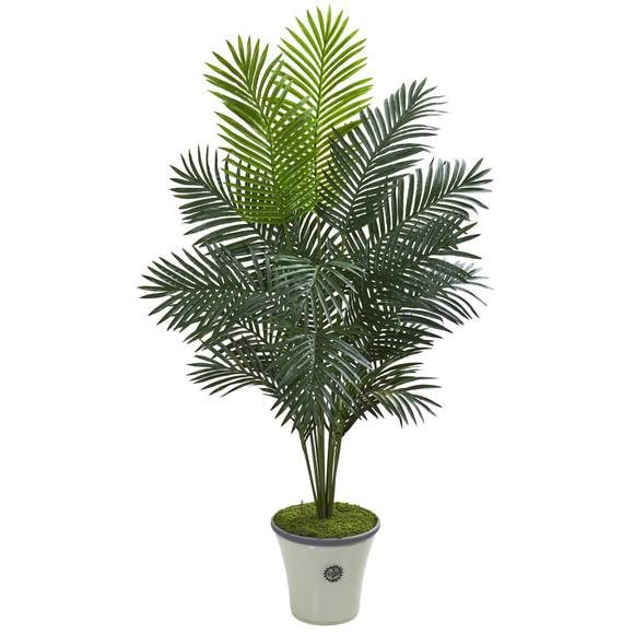 65 Paradise Palm Artificial Plant in Decorative Planter - SKU #T1024