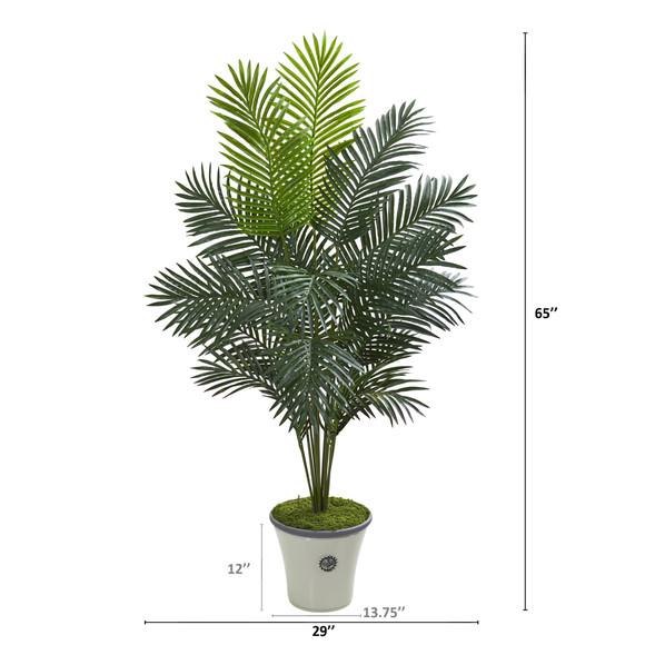 65 Paradise Palm Artificial Plant in Decorative Planter - SKU #T1024 - 1