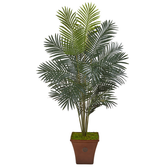 65 Paradise Palm Artificial Plant in Brown Planter - SKU #T1025