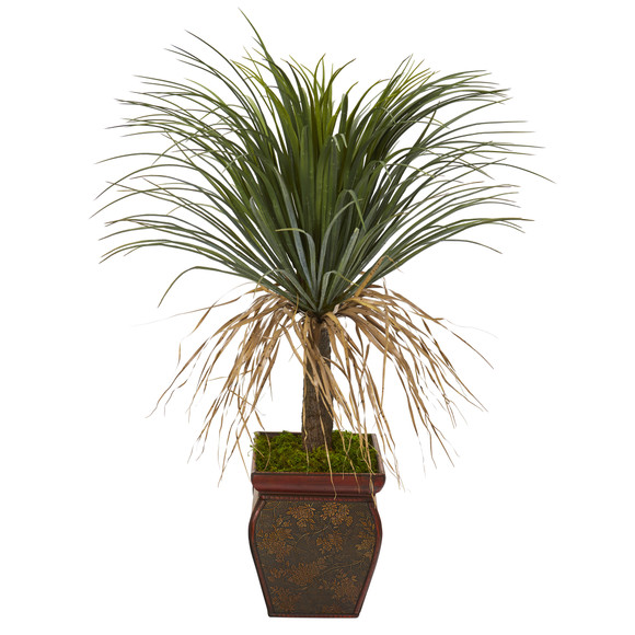 37 Pony Tail Palm Artificial Plant in Decorative Planter - SKU #T1036