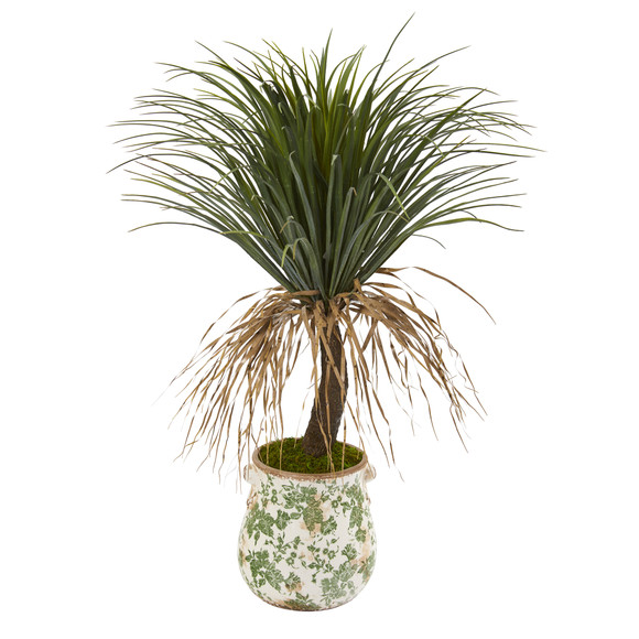 38 Pony Tail Palm Artificial Plant in Floral Planter - SKU #T1037