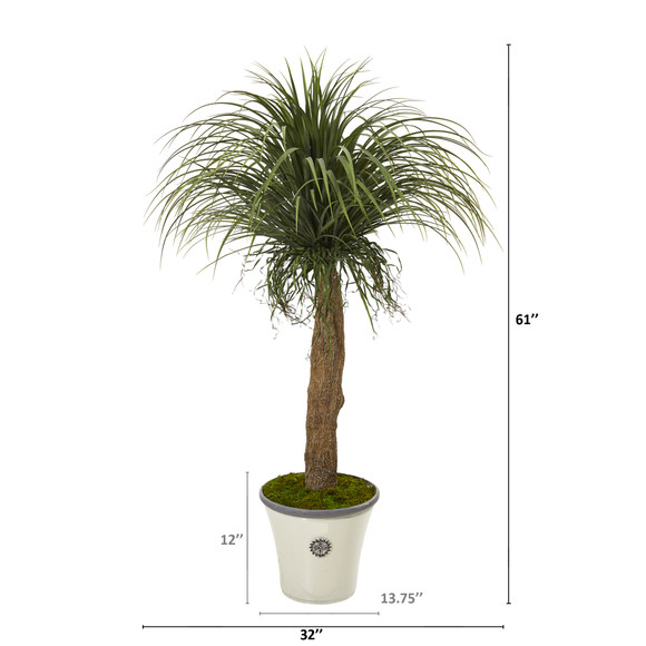 61 Pony Tail Palm Artificial Plant in Decorative Planter - SKU #T1042 - 1