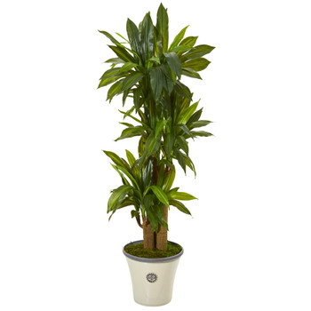 56 Corn Stalk Dracaena Artificial Plant in Planter Real Touch - SKU #T1046