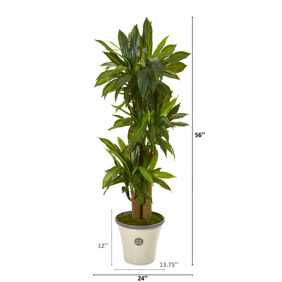 56 Corn Stalk Dracaena Artificial Plant in Planter Real Touch - SKU #T1046 - 1
