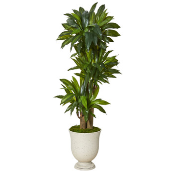61 Corn Stalk Dracaena Artificial Plant in Decorative Urn Real Touch - SKU #T1050