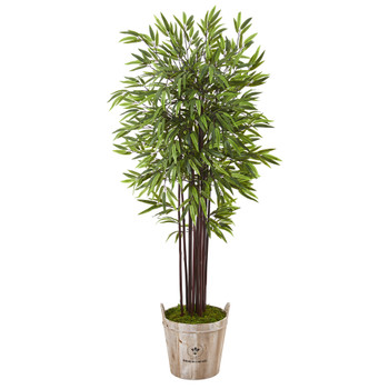 5.5 Bamboo Artificial Tree in Farmhouse Planter - SKU #T1057