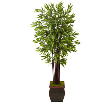 67 Bamboo Artificial Tree in Decorative Planter - SKU #T1058