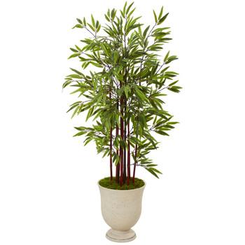5 Bamboo Artificial Tree in Decorative Urn - SKU #T1063