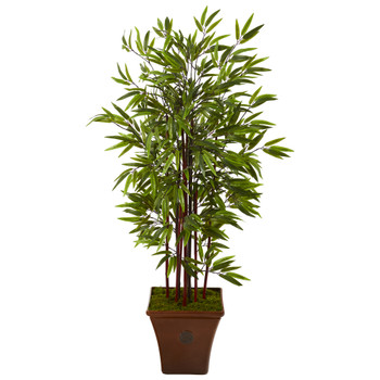 57 Bamboo Artificial Tree in Brown Planter - SKU #T1065