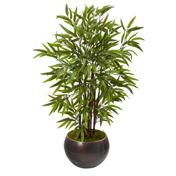 45 Bamboo Artificial Tree in Metal Bowl - SKU #T1067