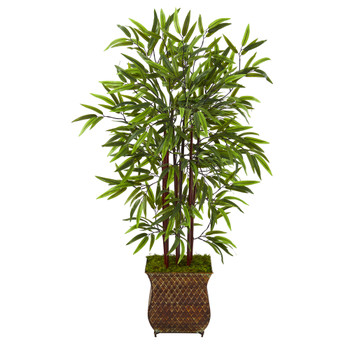 44 Bamboo Artificial Tree in Metal Planter - SKU #T1069