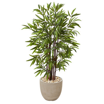 47 Bamboo Artificial Tree in Sandstone Planter - SKU #T1070