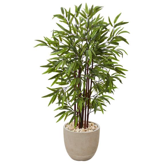 47 Bamboo Artificial Tree in Sandstone Planter - SKU #T1070
