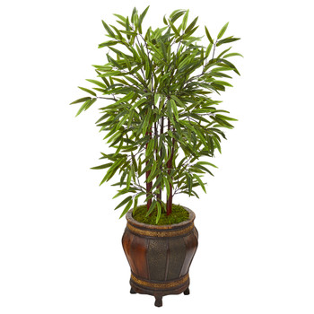 50 Bamboo Artificial Tree in Decorative Planter - SKU #T1096