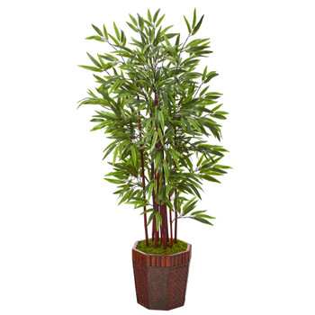 53 Bamboo Artificial Tree in Decorative Planter - SKU #T1097