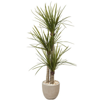 5 Yucca Artificial Tree in Sandstone Planter - SKU #T1098