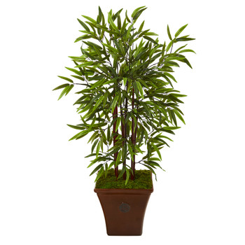 45 Bamboo Artificial Tree in Brown Planter - SKU #T1100