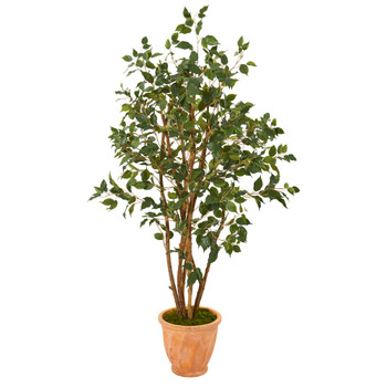 53 Ficus Artificial Tree in Terra-Cotta Planter - SKU #T1103