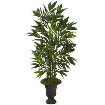 50 Bamboo Palm Artificial Tree in Charcoal Urn - SKU #T1126