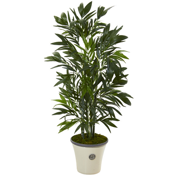 4 Bamboo Palm Artificial Tree in Decorative Planter - SKU #T1127
