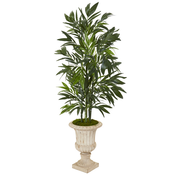 51 Bamboo Palm Artificial Tree in Sand Finished Urn - SKU #T1131