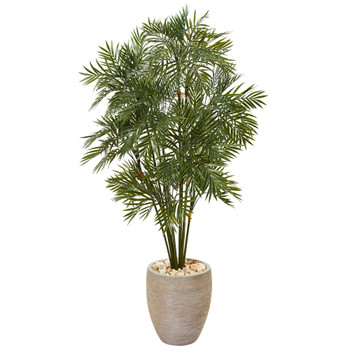 50 Parlor Palm Artificial Tree in Sand Colored Planter - SKU #T1134