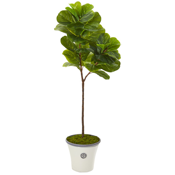 5 Fiddle Leaf Artificial Tree in Decorative Planter Real Touch - SKU #T1146