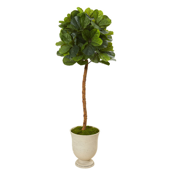 65 Fiddle Leaf Artificial Tree in Decorative Urn Real Touch - SKU #T1148